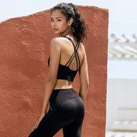 LULU Leganing Style 2020 Новая осенью и зимняя европейская и американская сексуальная обнаженная почувствование спортивное обратное формирование фитнес Йога нижнее белье работает спортом