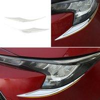 Pour Toyota Corolla 2019-2021 [US] Silver Steel Phare Avant Lampe de lampe à sourcils