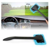 Пластиковый очиститель для лобового стекла Microfiber Auto Window Cleaner Длинная ручка щетки губок удобный моющийся инструмент для очистки автомобилей