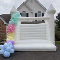 Kommerzielle Neudesign Aufblasbare weiße Bounce Castle Blow Up Jumping Bouncy House Erwachsene und Kinder Bouncer Burgen für Hochzeitsfeier
