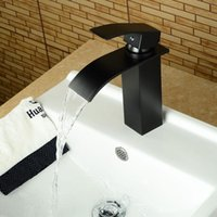 Bathroom Sink Faucets Vidric Brass Brushed Nickel chrome ORB Waterfall Faucet Single Handle Square Bath Washbasin Cold& Mixer Taps