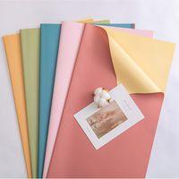 선물 포장 종이 바이 컬러 방수 꽃 포장지 꽃 결혼식 축제 파티에 대 한 현재 포장 용품 GWE5360