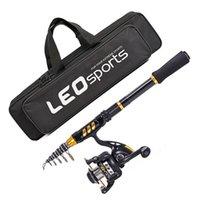 Telescopic Rod and Combo Set Carbon Fiber Pole Wheel Bag Combos Full Kit for Travel Fishing Spinning Reel