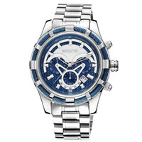 Skone / Space Time Мужские многофункциональные спортивные часы Высококачественный стальной ремень Водонепроницаемый кварц