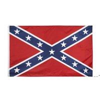 Direct Factory Commercio all'ingrosso 3x5ft ribelle confederato flag Dixie South Alliance Guerra civile American Banner storico 90x150cm EWB5797