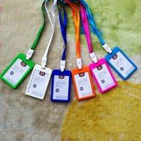 حاملي البطاقات بطاقات ملونة الأكمام و شنقا حبل البلاستيك شارة الحلوى اللون pp شهادة الغلاف رقم لوحة العلامة حبال 10 ألوان