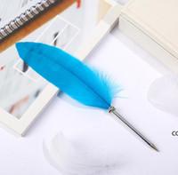 Pluma pluma oficina firma bolígrafo bolígrafos 0.5mm negro tinta azul regalo de navidad anuncio de la boda DHF8426
