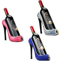 عالية الكعب تفكيك الفن الأحمر النبيذ رف كورك حاوية زجاجة حامل المطبخ بار عرض الحرف اليدوية حامل الديكور الرفوف المنضدية
