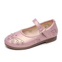 Bekamille Girls Sandals Летняя мода Детская принцесса вырезанные алмазные кожаные туфли дети малыша младенца DACE SH029 квартира