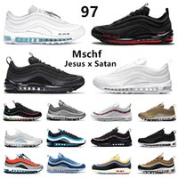 max Worldwide Black White 97 Mens Running shoes have a nike day Aqua Blue USA Ghost Easter MSCHF x INRI Jesus 97s UNDEFEATED men women sports designer sneakers