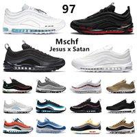 hava max 97 Mschf Lil Nas x Şeytan Luke inri İsa 97 erkek koşu ayakkabıları üçlü siyah beyaz Üniversite Kırmızı 97s yenilmez erkekler kadın eğitmenler spor ayakkabı