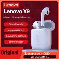 لينوفو x9 TWS سماعة بلوتوث سماعة سماعة الذكية اللمس إلغاء الضوضاء جودة عالية الصوت ستيريو المحيط للماء لآيفون 12 برو ماكس سامسونج S21ultra Q32 Y30