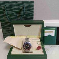 Echte foto met originele doos heren vintage horloge heren klassieke 40mm editie r ref .1675 GMT rood blauw bezel antieke bp fabriek 2813 beweging automatische horloges