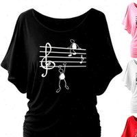 Fashion Womens T Shirts Ladies music character shirt tops O ...