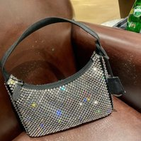 Diamante bolsa lona vaga vaga saco de desenhador de desenhador de ombro para mulheres peito de peito moda tote cadeias senhora presbyópico bolsa de alta qualidade bolsas por atacado diamantes