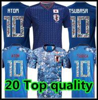 Qualidade superior 2019 2020 Japão Japão Jersey Capitão Tsubasa Japão Casa Azul Camisa de Futebol # 10 Atom 19 20 Futebol Uniforme