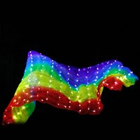 Stage Wear Belly Dance LED Silk Scarf Halloween Costumes Colorful Props Costume Accessories