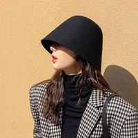 Stingy brim hats Vintage Emmer Hat Cap Panama Women Winter Wool Fish Men Hiphop Caps Casual Fashion Flat Woman Hats J0910