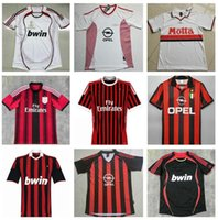 AC 2006 2007 Milan Fútbol Jersey 90 91 14 15 Camisetas retro Inicio 96 97 Gullit 02 03 04 Maldini Van Basten Football Ronaldo Kaka Inzaghi 09 10 Shevchenko