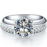 고체 플래티넘 PT950 링 D 색 VVS1 2.55CT 라운드 화려한 다이아몬드 약혼 반지 약속 사랑 웨딩 쥬얼리 클러스터