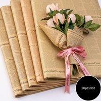 Cadeaux de journaux emballage papier fleuriste fleur bouquet de fleur d'emballage Papier emballage pour anniversaire Thanksgiving Noël fête zze5358