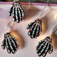 Party Decoration Halloween Must-have Hanging Light Pendant Classic Ghost Hand 65 Inch 10 Led String Glow Supplies
