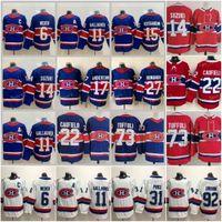 Reverse Retro 몬트리올 Canadiens Hockey Jerseys 22 Cole Coufield 14 Nick Suzuki 31 Cauy Price 73 타일러 토프리 27 Romanov Shea Weber 11 Brendan Gallagher Red Purple
