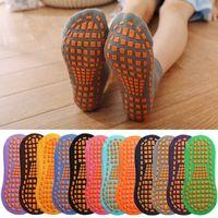 Dispensación de pegamento de trampolín, calcetines de piso antideslizante, educación temprana para niños, calcetines de yoga para el hogar adulto