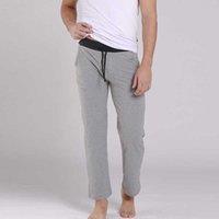 KVF Yeni Erkekler Uyku Pantolon Pürüzsüz Gevşek Adam Pantolon Rahat Pijama Pantolon Serin Nefes Uyku Dipleri Erkekler