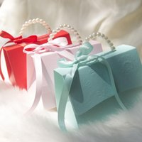 Gift Wrap 10pcs lot Wedding Candy Box Pearl Handheld Bag Baby Shower Party Favor Favors Chocolate Paper