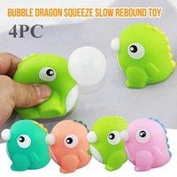 Strano nuovo giocattolo Baby Dragon Spit Bubble Pinch Musica Squeeze Bolla Bubble Divertente Giocattolo per bambini Adulto Vent Decompressione giocattolo N50 Q0423