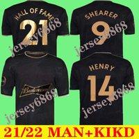 2021 2022 قاعة الشهرة الإنجليزية لكرة القدم الفانيلة 20 21 22 هنري شيرر الرجال عدة مؤطرة خاصة طبعة تذكارية رجل كرة القدم قميص الزي الأسود