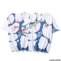 Hip Hop Rap Trend Brand Travis Scott Album Peripheral Gradient Tie Dye Graffiti Print Short Sleeve T-shirt