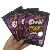 Errolli Sour Terp Crawlers Bolsas 600mg Gummy Edibles Embalaje Mylar Bolso 500mg Hashtag Honey Oll Spell Package Package Cookies California Baggies