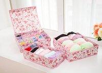 The latest 33X30X10CM folding underwear 3-piece storage box, many styles to choose from, support customization LOGO