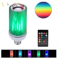 Bulbos E26 Altavoz Bluetooth LED Music Bombilla Controlado RGBW Light Ball Audio 110V Crestech