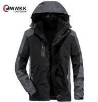 Outdoor Jackets&Hoodies Thickened Two Piece Three In One Suit Waterproof Breathable Detachable Hat Fishing Hiking Climber's Coat Camping Ski