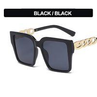 New 2021 Trendy Big Box Sunglasses Fashion Metal Leg Sunscreen Eyeglasses Men's and Women's Eyewear