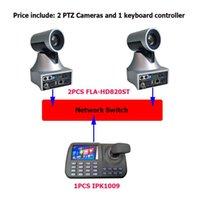 Pantalla LCD de pulgada Controlador de teclado IP 20x Zoom óptico Cámara SDI PTZ para VMIX / Cámaras de transmisión en vivo de BlackMagic