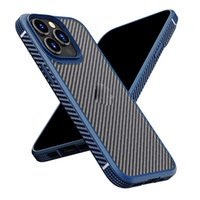 Carbon Fiber Pattern Phone Cases For Iphone 12 11 13 Pro Max Xr Xs Luxury Fashion Translucent Ultra Thin Protective Cover Shell Antifall Non Slip