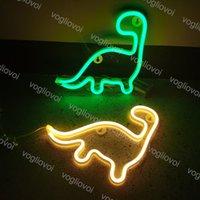 LED Neon Sign SMD2835 Внутреннее Ночное Света Light Ins Творчество Динозавр Модель Праздник Рождественская вечеринка Свадебные Украшения Настольные Лампы EUB