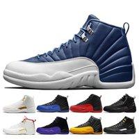 12 12s pierre bleu bleu sombre concord hommes bottes chaussures de grippe inverse jeu universitude doré gris sombre jumpan homme sneakers formateurs