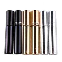 10ml d'atomiseur de placage UV mini bouteille de parfum de parfum portable rechargeable échantillon échantillon de conteneurs vides or argent noir couleur