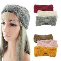 Winter Warm Knit Headbands For Women Knotted Crochet Elastic Hair Band Bandanas Handmade Turban Headwear For Hair Accessories