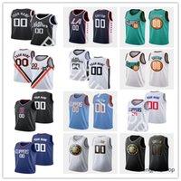 Screen Print Basketball Trikots 4 Rajon 2 Kawhi Rondo Leonard 40 Ivica Zubac 5 Luke Kennard 54 Patrick Patterson 33 Nicolas Batum 1 Reggie Jackson Jersey
