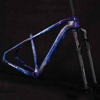 자전거 프레임 2021 최신 디자인 29er 산 프레임 슈퍼 라이트 T1000 탄소 섬유 MTB 자전거 rockshox reba 포크와 프레임 넷