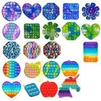 Engraçado Fidget Brinquedos Simples Dimple Poppit Brinquedo Bubble Pop Sensory Brinquedo para Adulto Kids Stress Reliever Autism Presente GWB5572