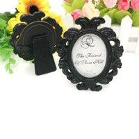 NewParty Malzemeleri WhiteBlack Barok Resim / Fotoğraf Çerçevesi Yer Kart Sahibi Düğün Düğün Duş, EWD6323 Şekeri