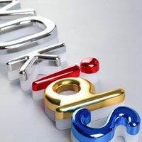 Coloré Galvanisé PMMA Signes acryliques Gloss Surface Simple 3D Lettres Personnalisé Lettres Personnalisées Signes d'éclairage
