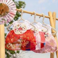 Patrón impreso de poliéster Ropa para perros pequeños para mascotas Ropa de estilo tradicional Perros Vestido de verano niña